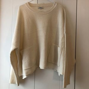 Madewell Cropped Sweater with pockets